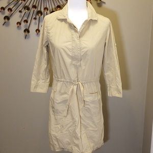 J Crew Drawstring shirt dress